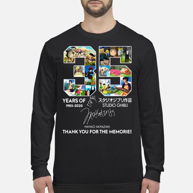 35 year of Studio Ghibli thank you for memories men's long sleeved shirt