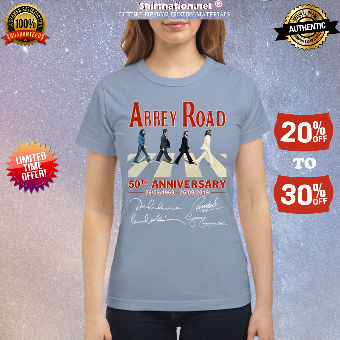 Abbey Road 50th anniversary signatures classic shirt