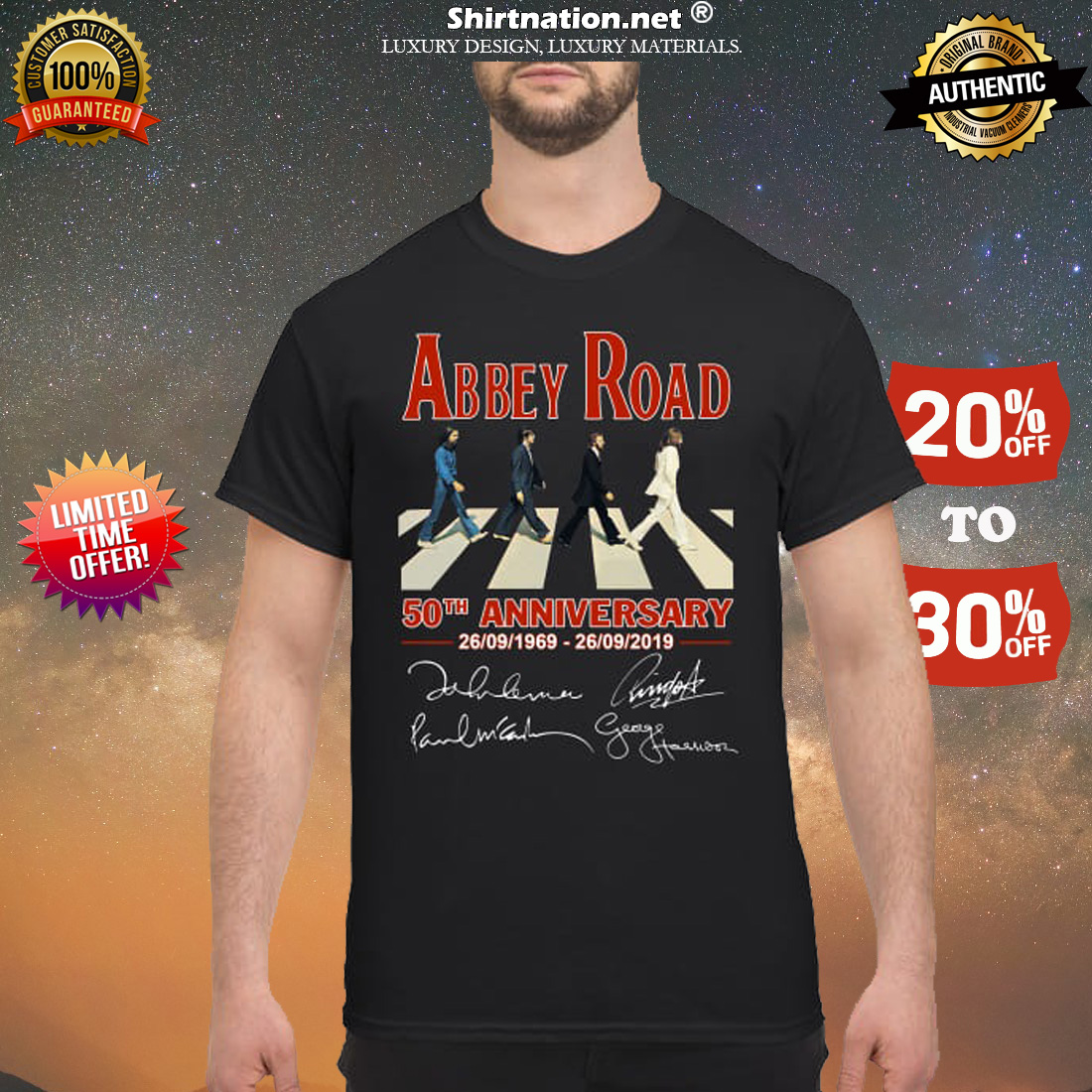Abbey Road 50th anniversary signatures shirt