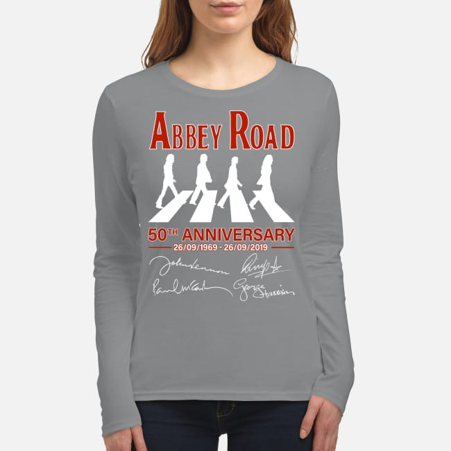 Abbey Road 50th anniversary signatures women's long sleeved shirt