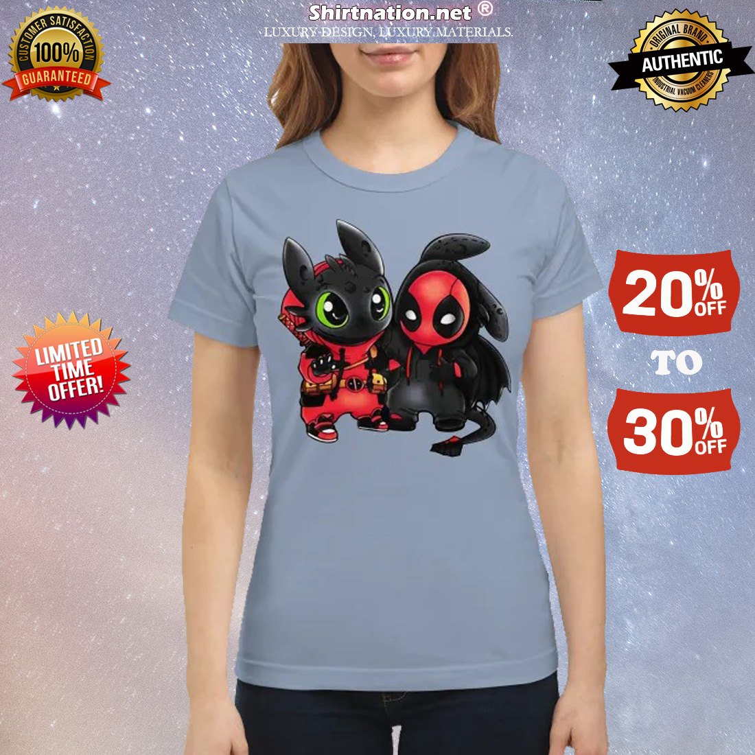 Baby deadpool and stitch classic shirt