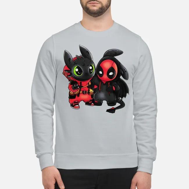 Baby deadpool and stitch sweatshirt