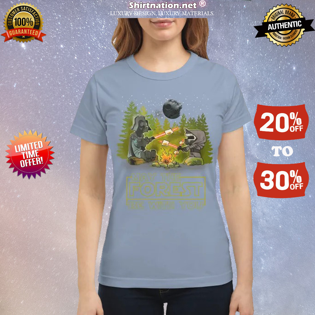 Camping may the forest be with you classic shirt