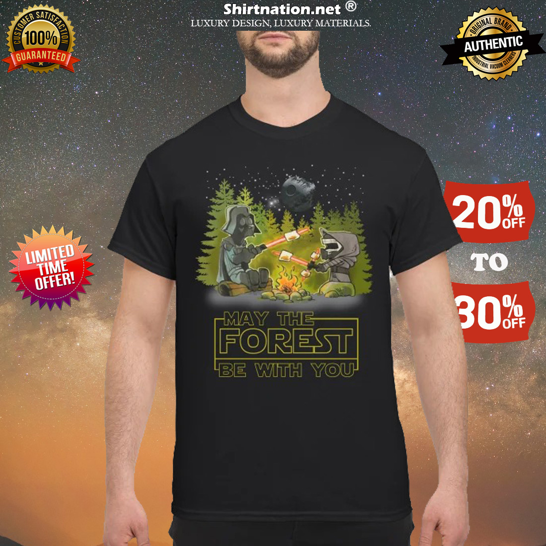 Camping may the forest be with you shirt