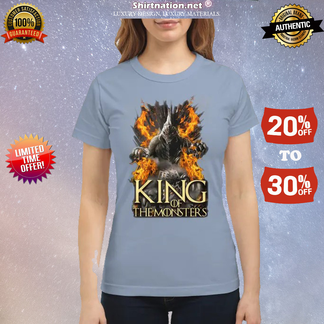 Godzilla king of the monsters shirt