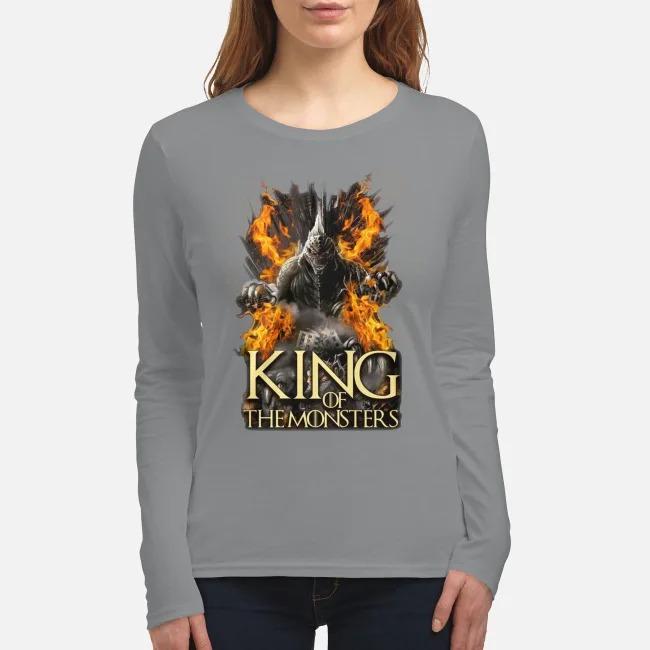 Godzilla king of the monsters women's long sleeved shirt