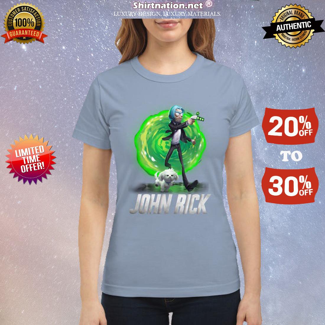 Rick and Morty John Wick classic shirt