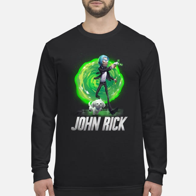 Rick and Morty John Wick men's long sleeved shirt