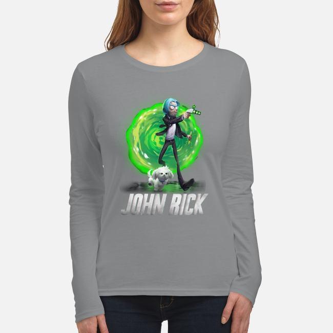 Rick and Morty John Wick women's long sleeved shirt