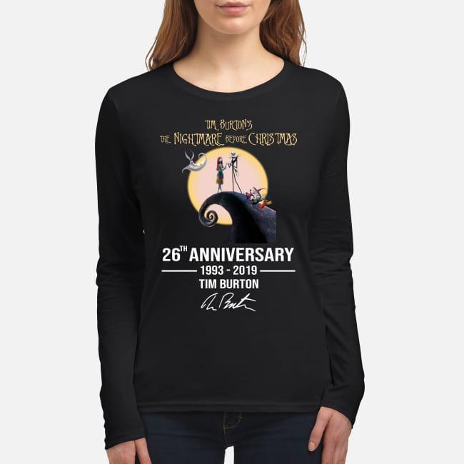 Tim Burtons nightmare before Christmas 26th anniversary women's long sleeved shirt