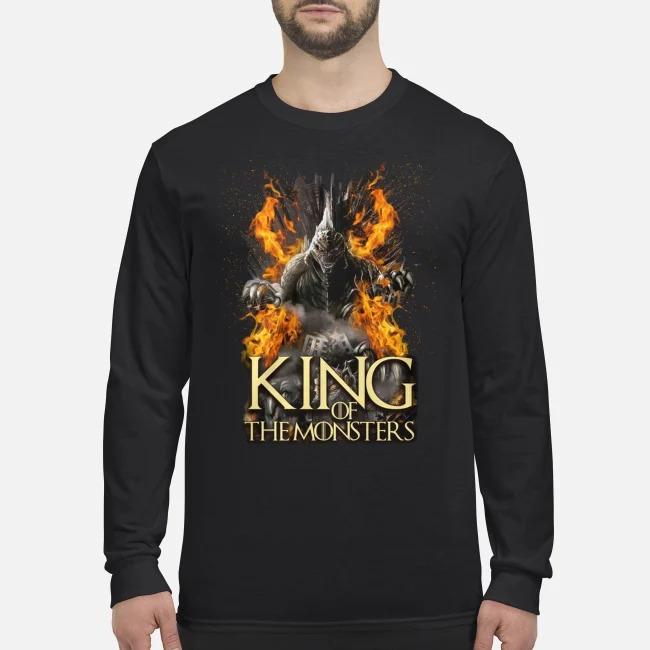king of the monsters men's long sleeved shirt