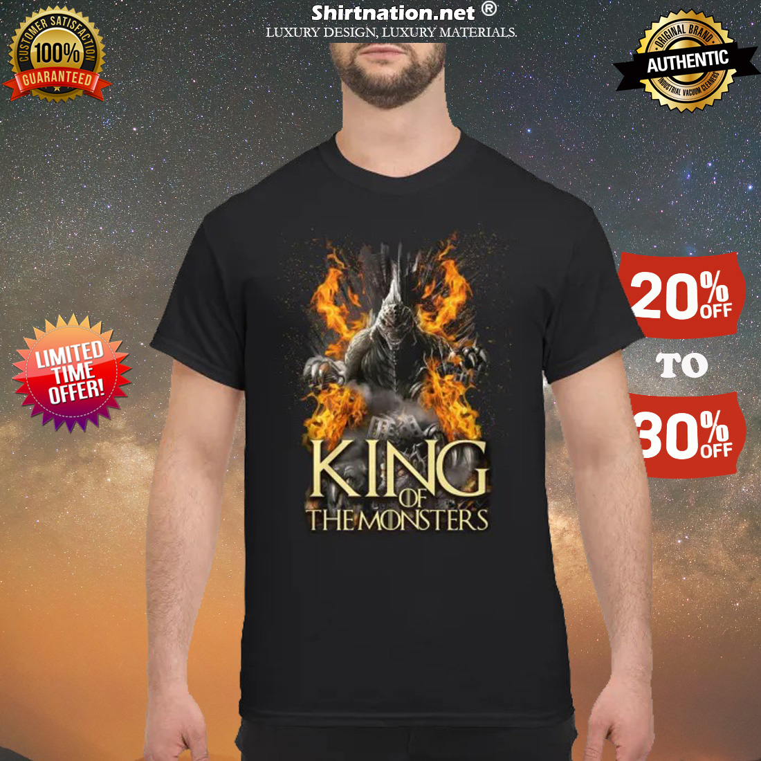 king of the monsters shirt