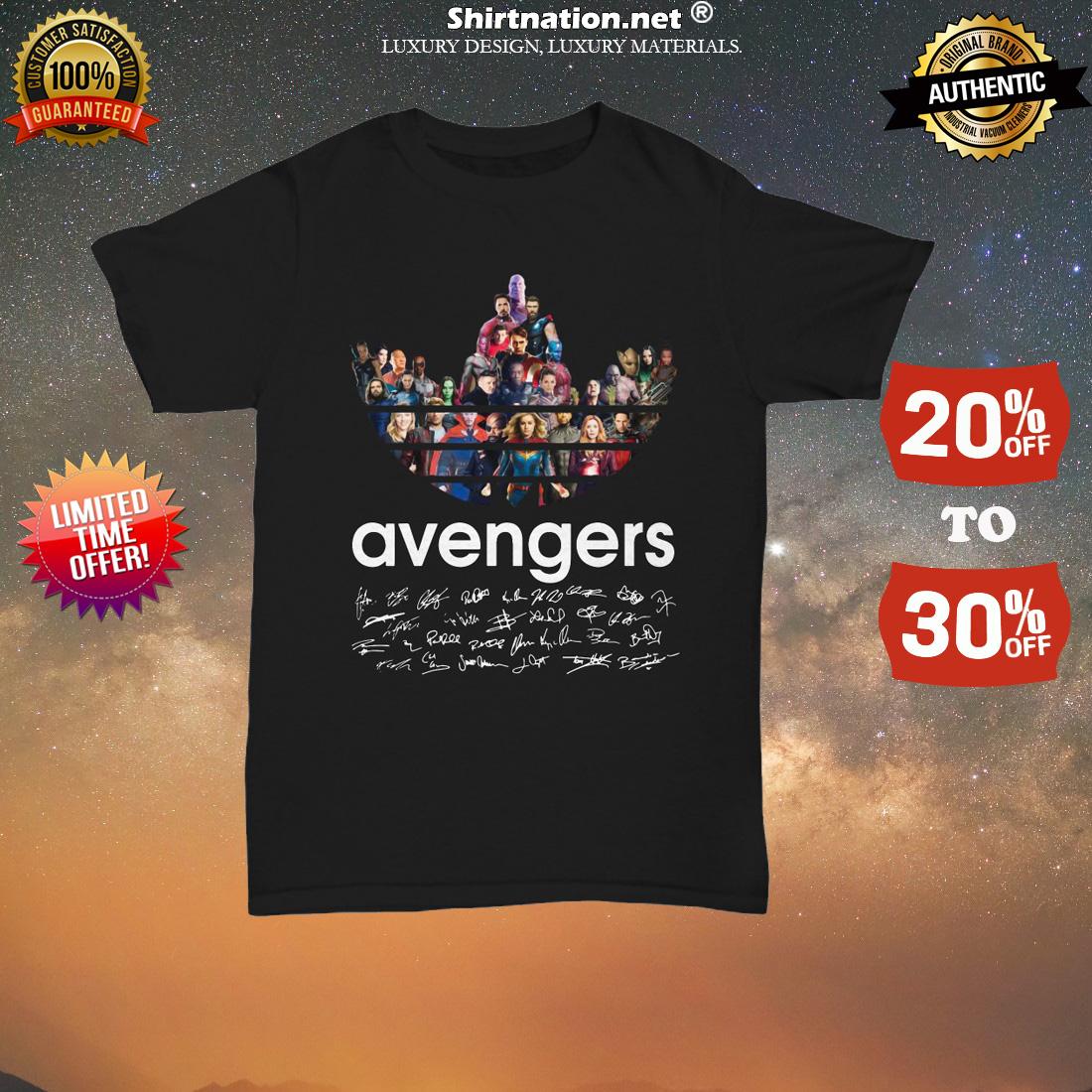 Adidas Avengers Signatures unisex tee shirt