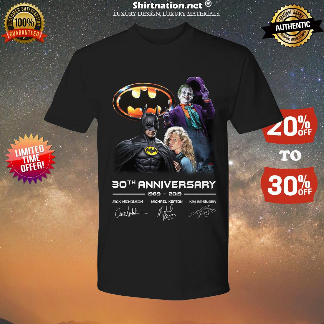 Batman 30th Anniversary 1989 2019 shirt
