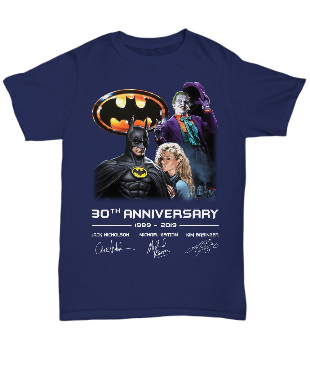 Batman 30th Anniversary 1989 2019 unisex tee shirt