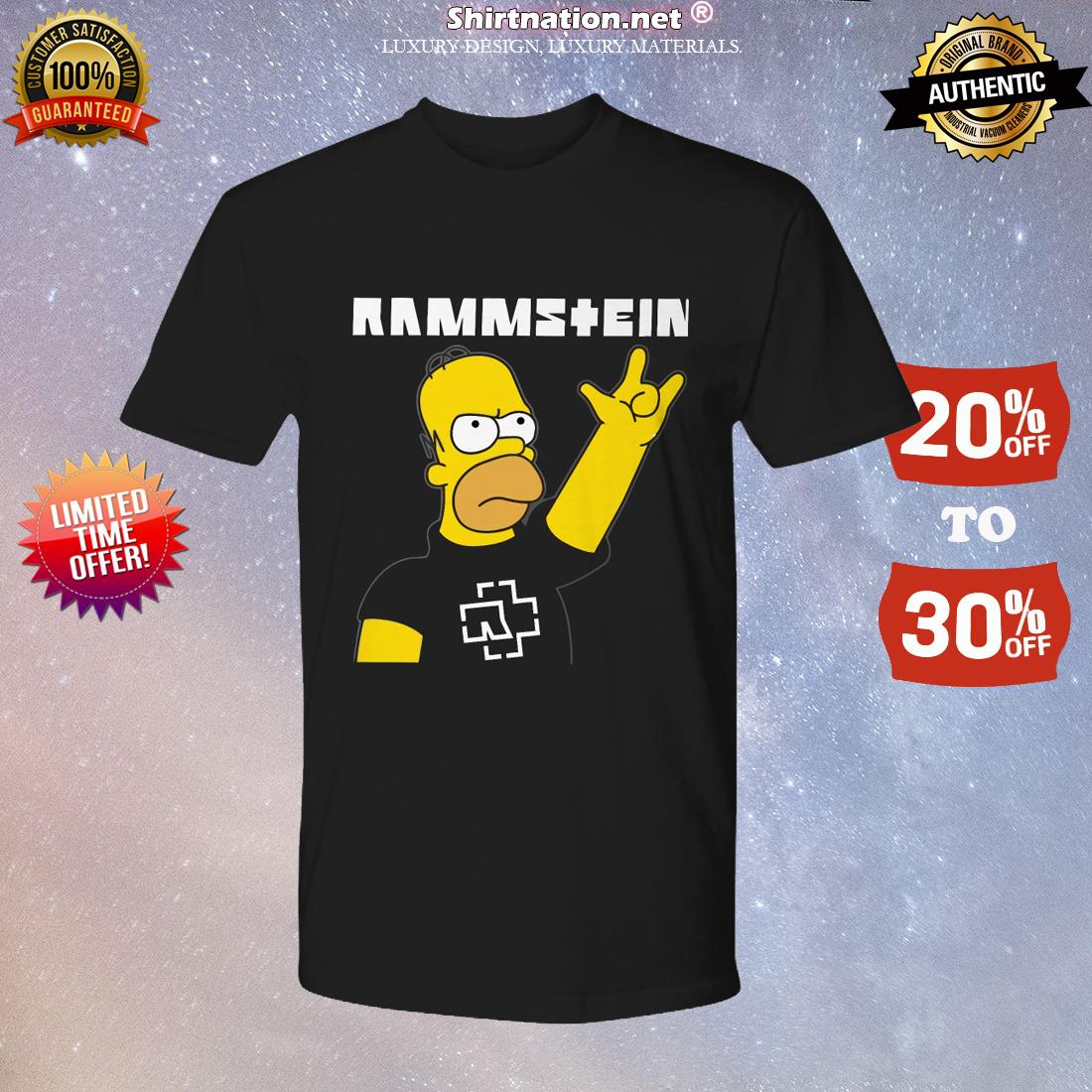 Homer Simpson Rammstein shirt