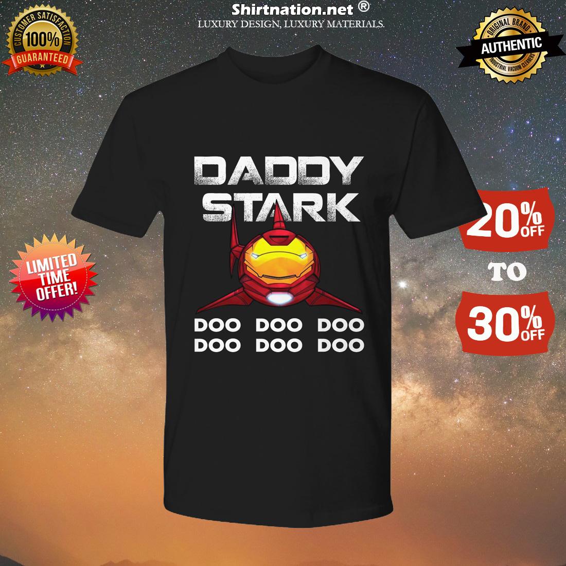 Iron man daddy shark doo doo doo shirt