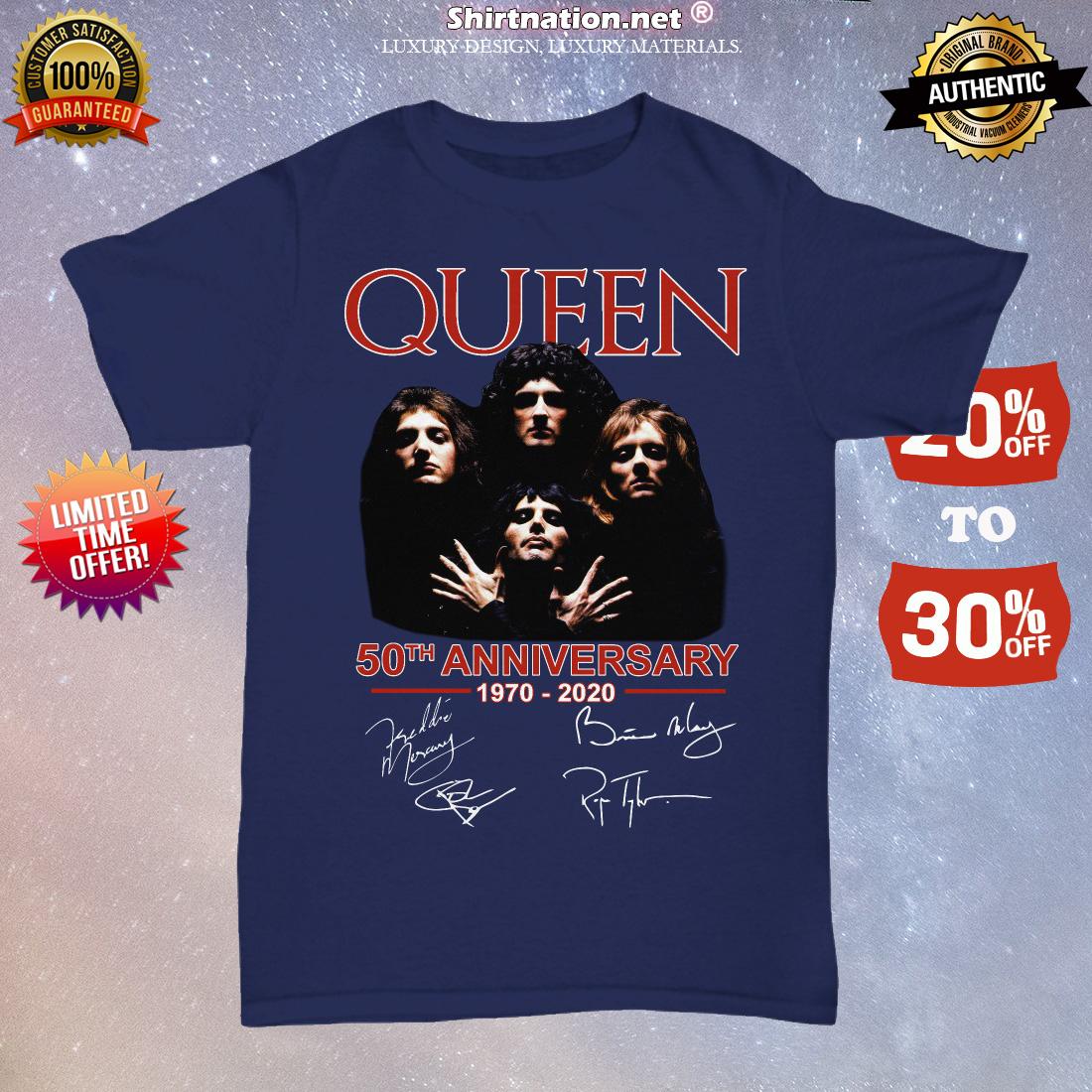 Queen 50th anniversary signatures unisex tee shirt