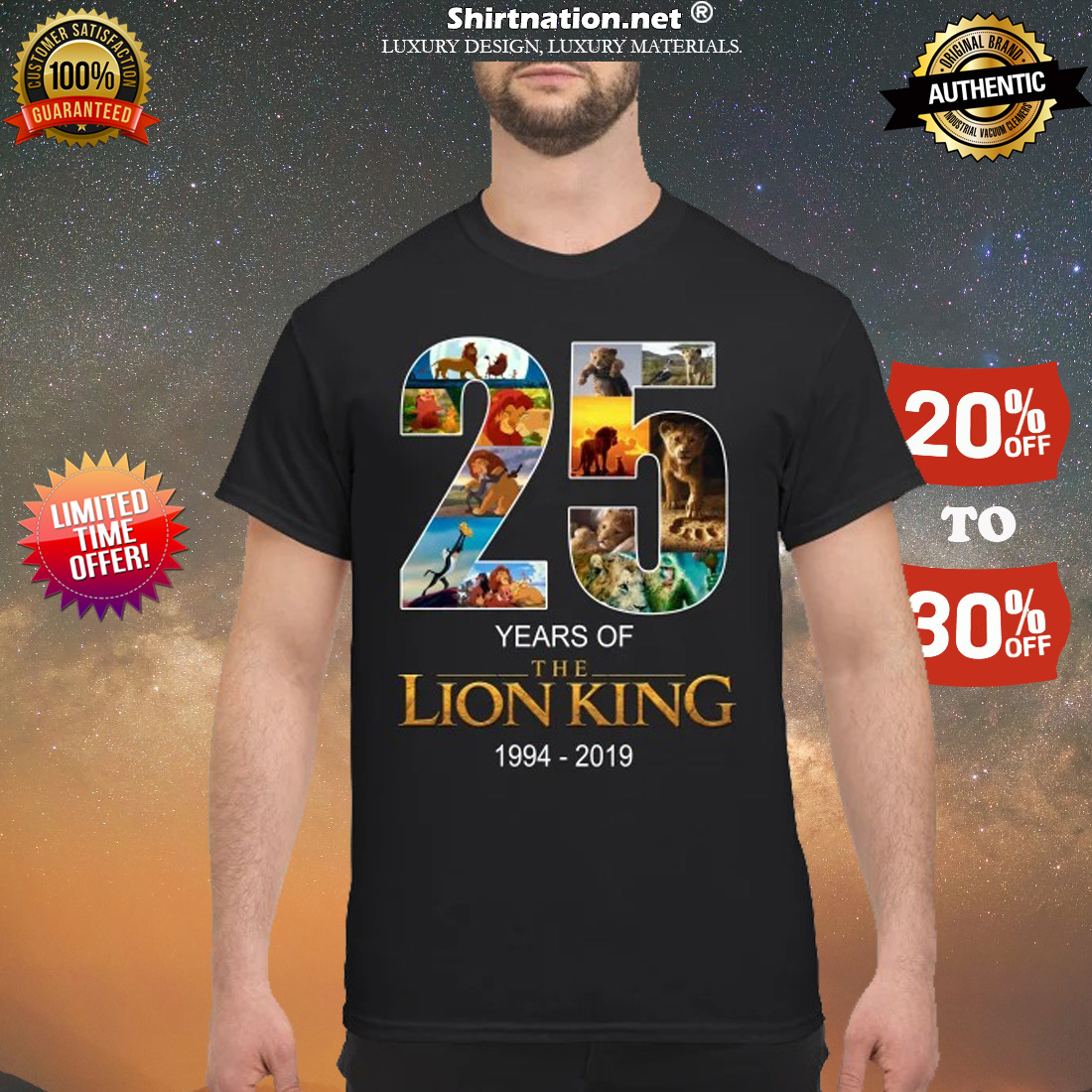 25 years of Lion King 1994 2019 shirt