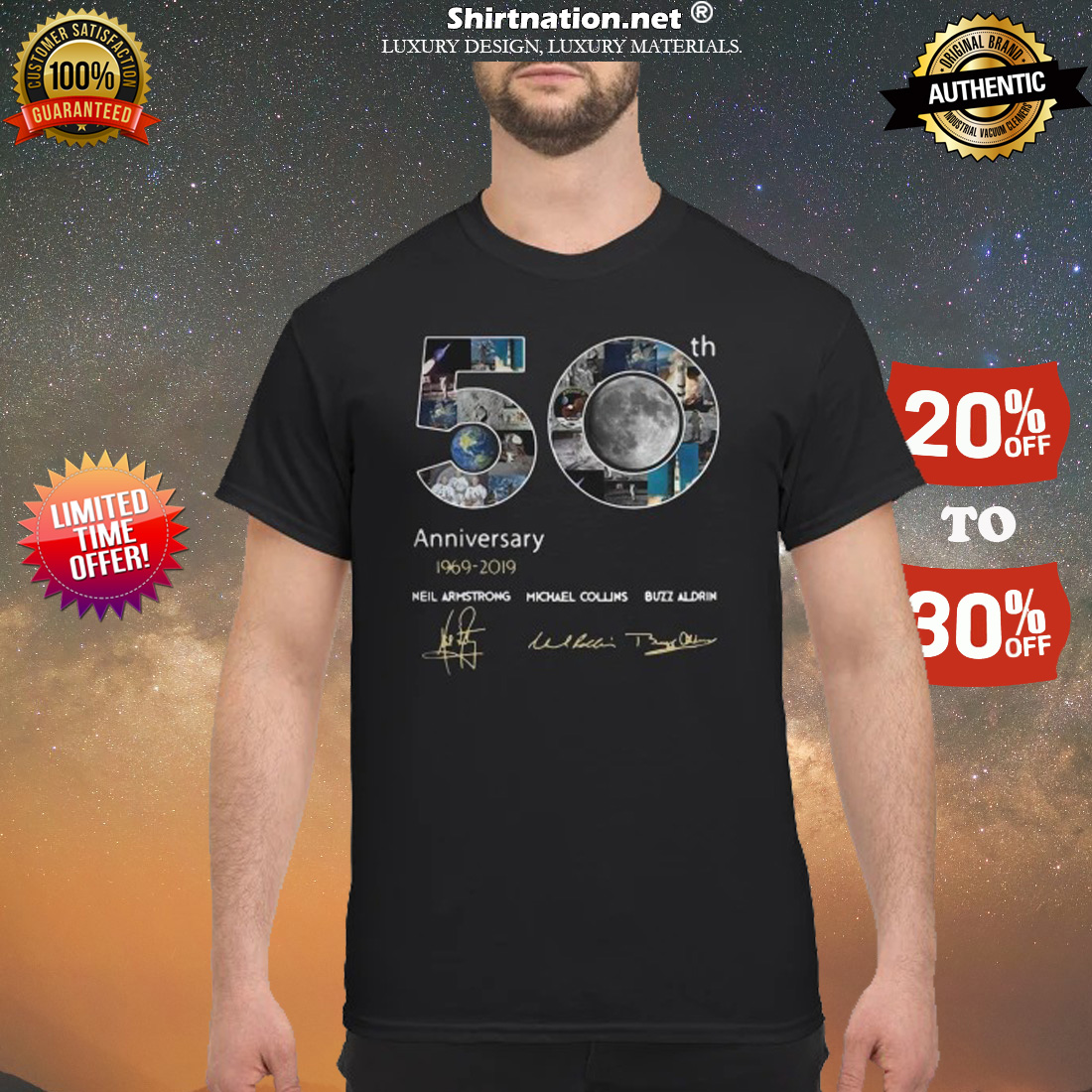 50th anniversary 1969 2019 Neil Armstrong Michael Collins Buzz Aldrin shirt