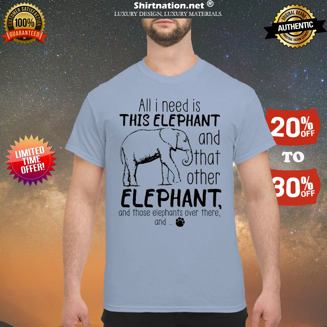 All I need is this elephant and that other elephant shirt