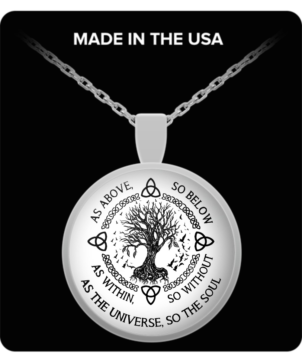 As above so below as within so without as the universe so the soul pendant necklace