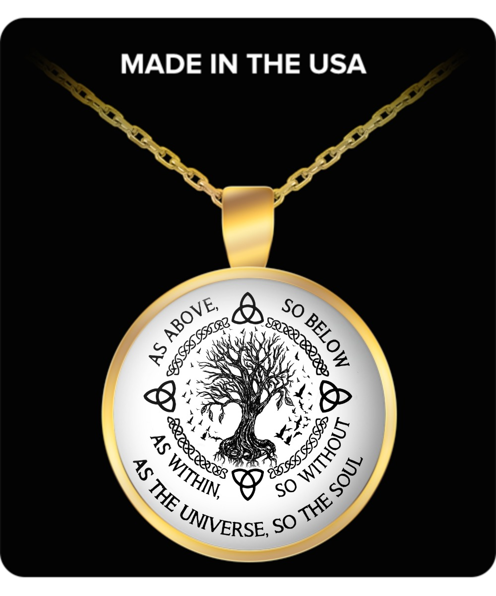 As above so below as within so without as the universe so the soul pendant round necklace