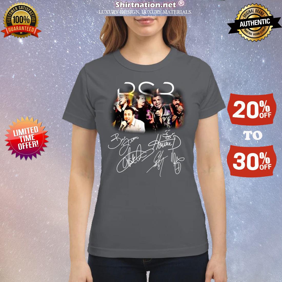 BSB backstreet boys members signatures classic shirt