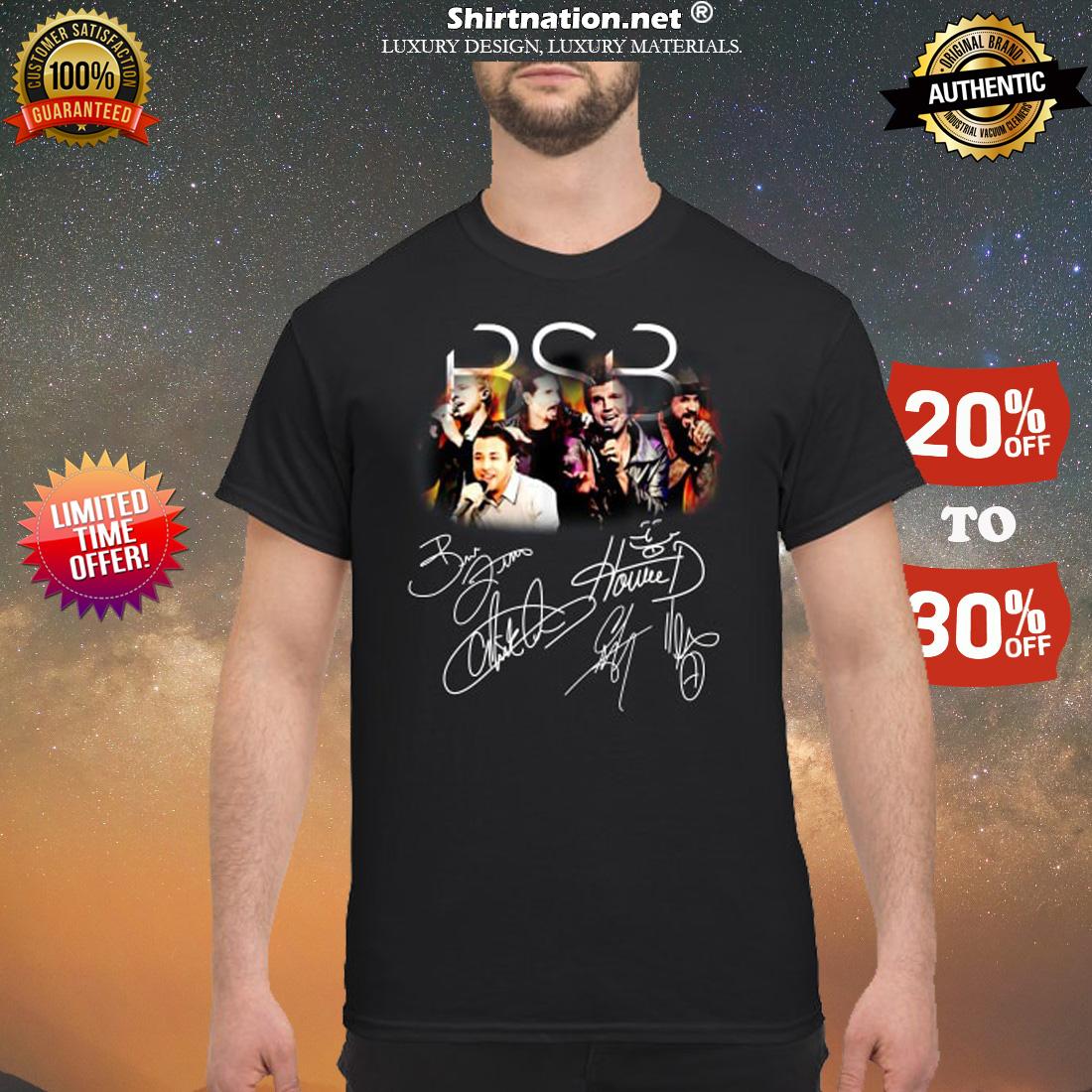 BSB backstreet boys members signatures shirt