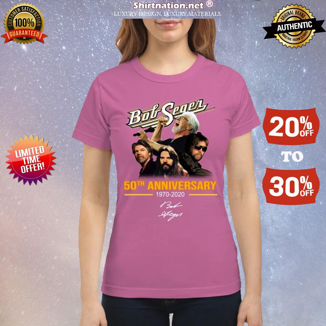 Bob Seger 50th anniversary 1970 2020 classic shirt