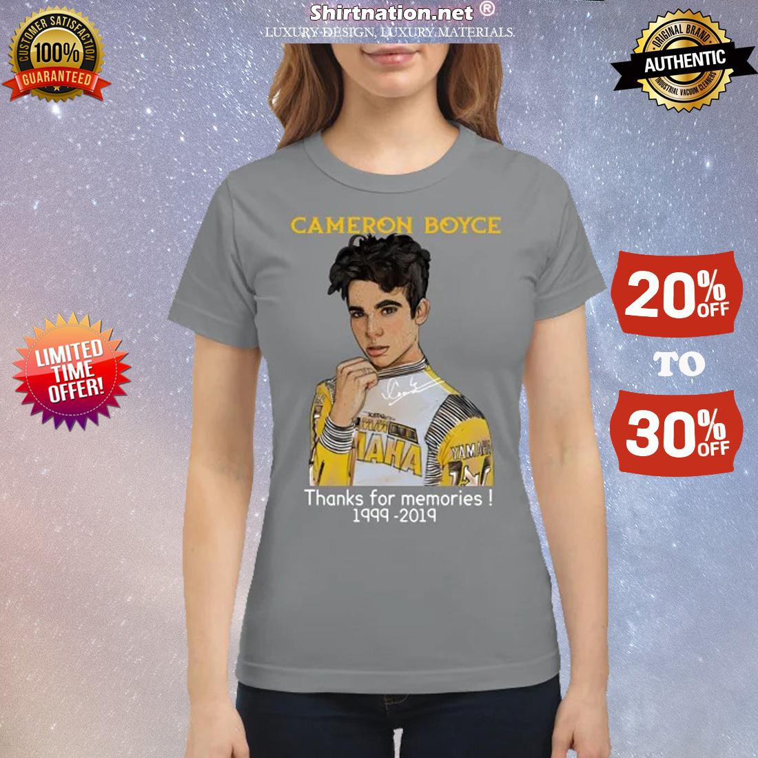 Cameron Boyce thanks for memories 1999 2019 classic shirt