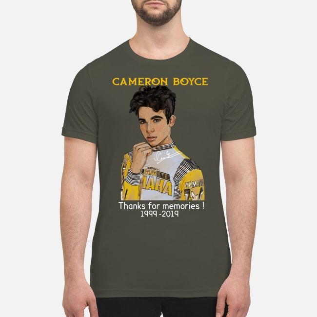 Cameron Boyce thanks for memories 1999 2019 premium men's shirt