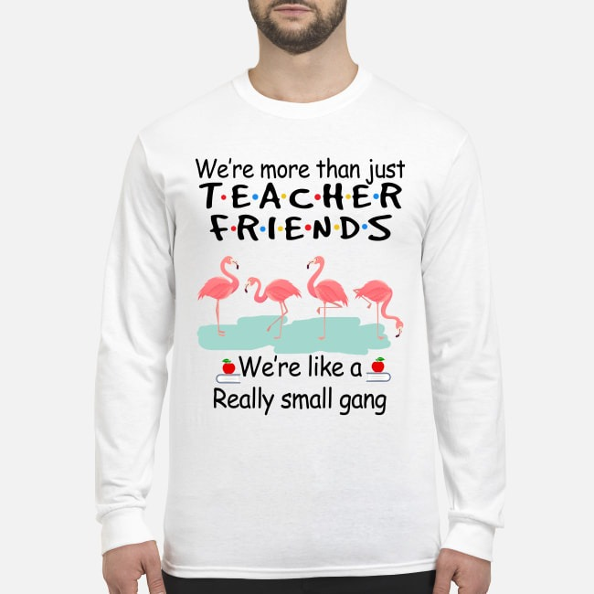 Flamingo we are more than just teacher we are like a small gang men's long sleeved shirt
