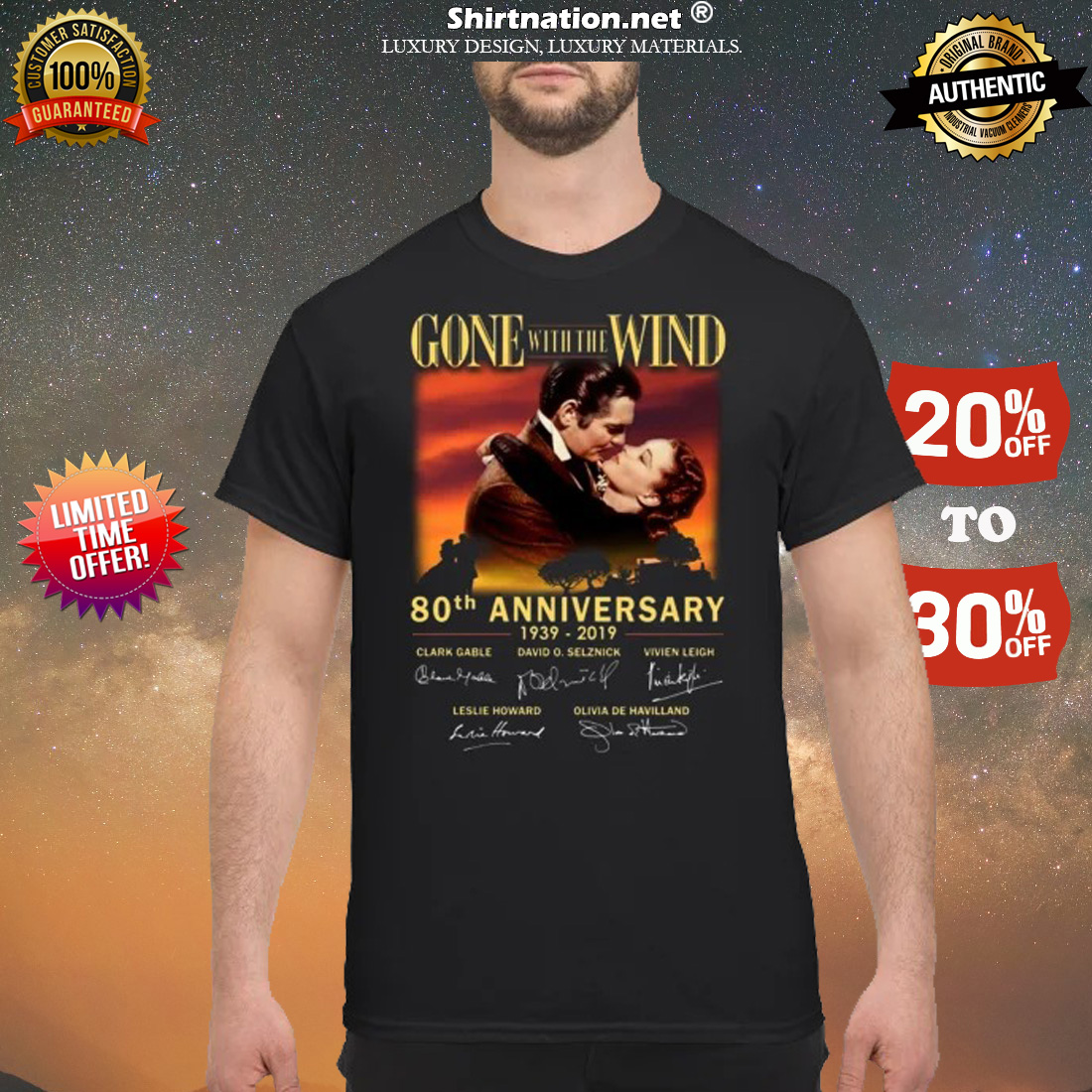 Gone of the wind 80th anniversary 1939 2019 shirt