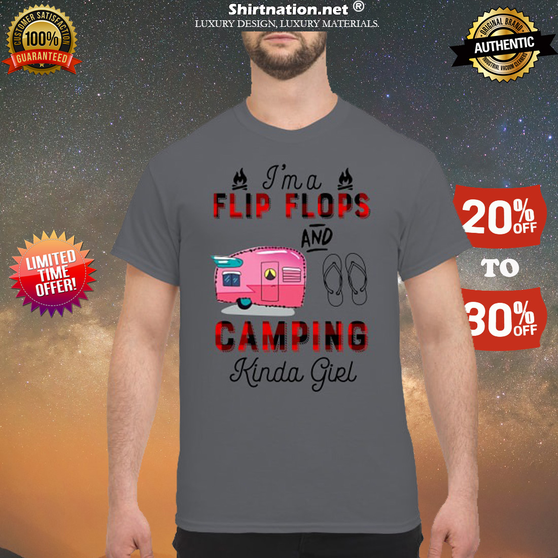 I'm a flip flops and camping kinda girl classic shirt