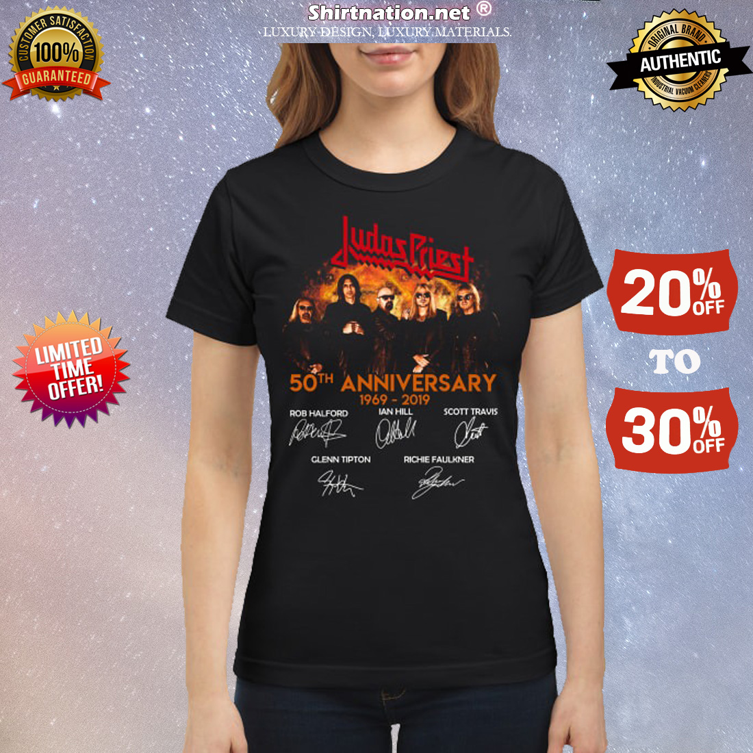 Judas Priest 50th anniversary 1969 2019 signatures classic shirt