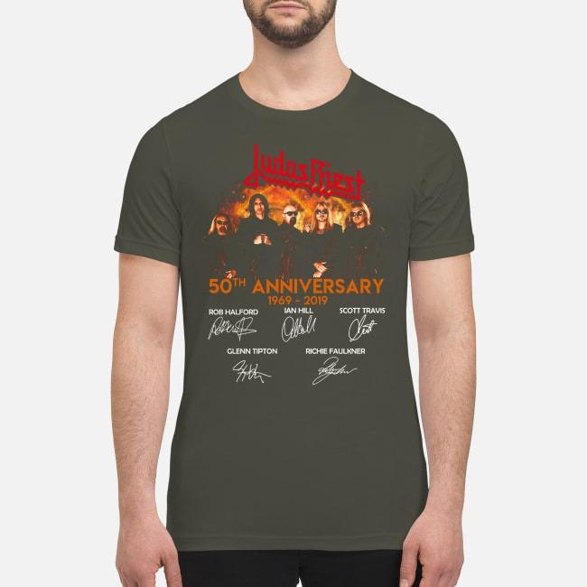 Judas Priest 50th anniversary 1969 2019 signatures premium men's shirt