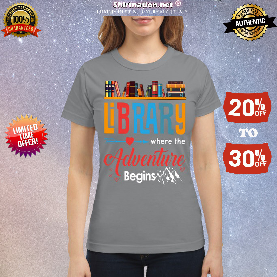 Library where is adventure begins classic shirt