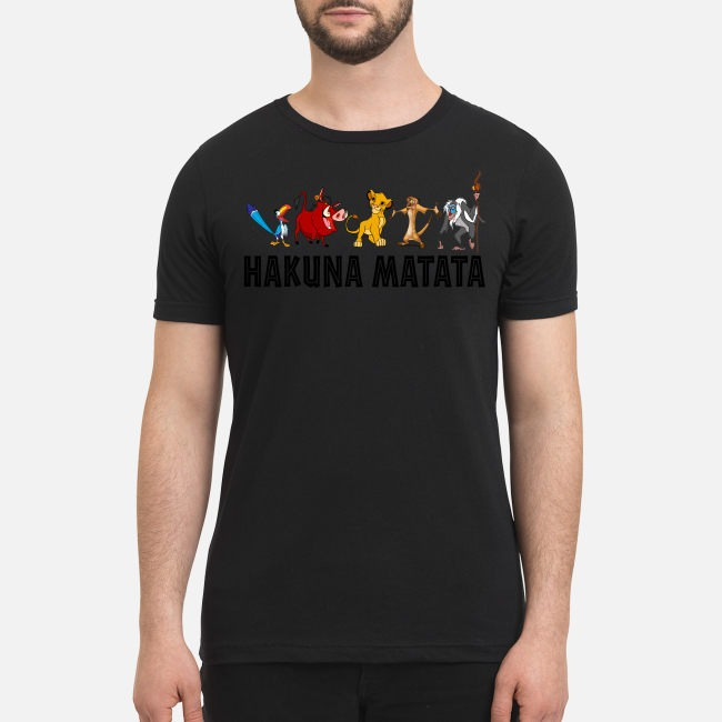 Lion king hakuna matata premium men's shirt