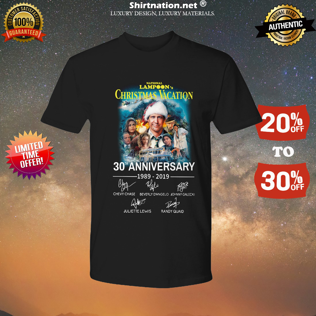 National lampoon christmas vacation 30th anniversary shirt