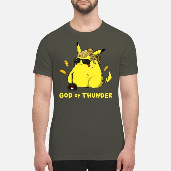 Pikachu God of thunder premium men's shirt