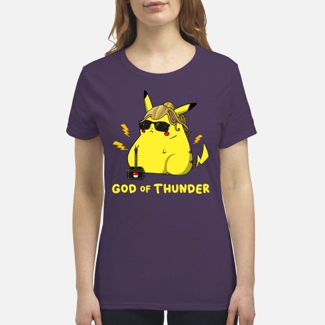 Pikachu God of thunder premium women's shirt
