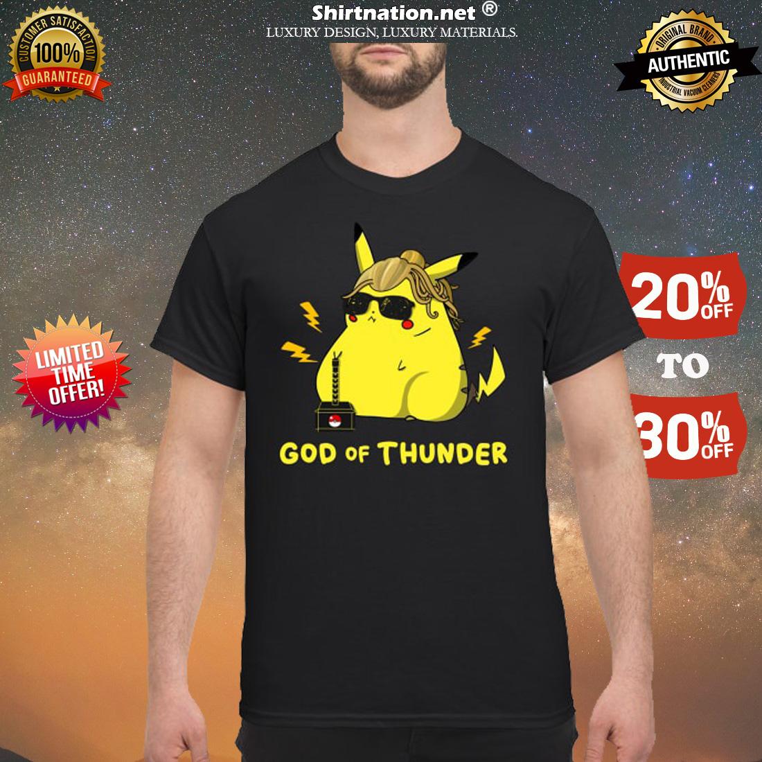 Pikachu God of thunder shirt