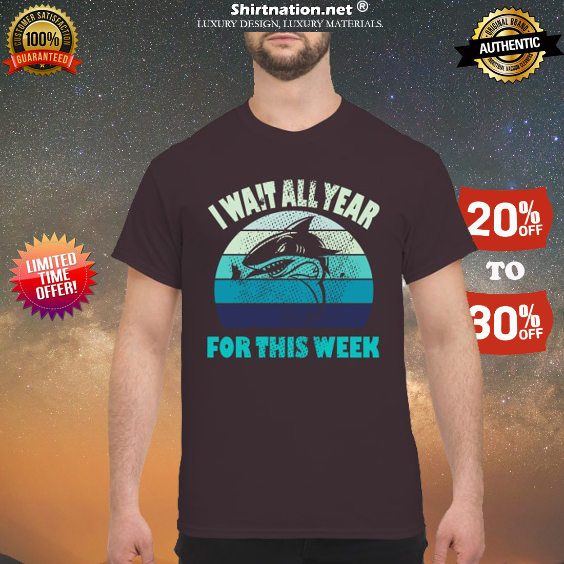 Shark I wait all year for this week shirt