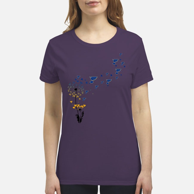 St Louis Blue dandelions premium women's shirt