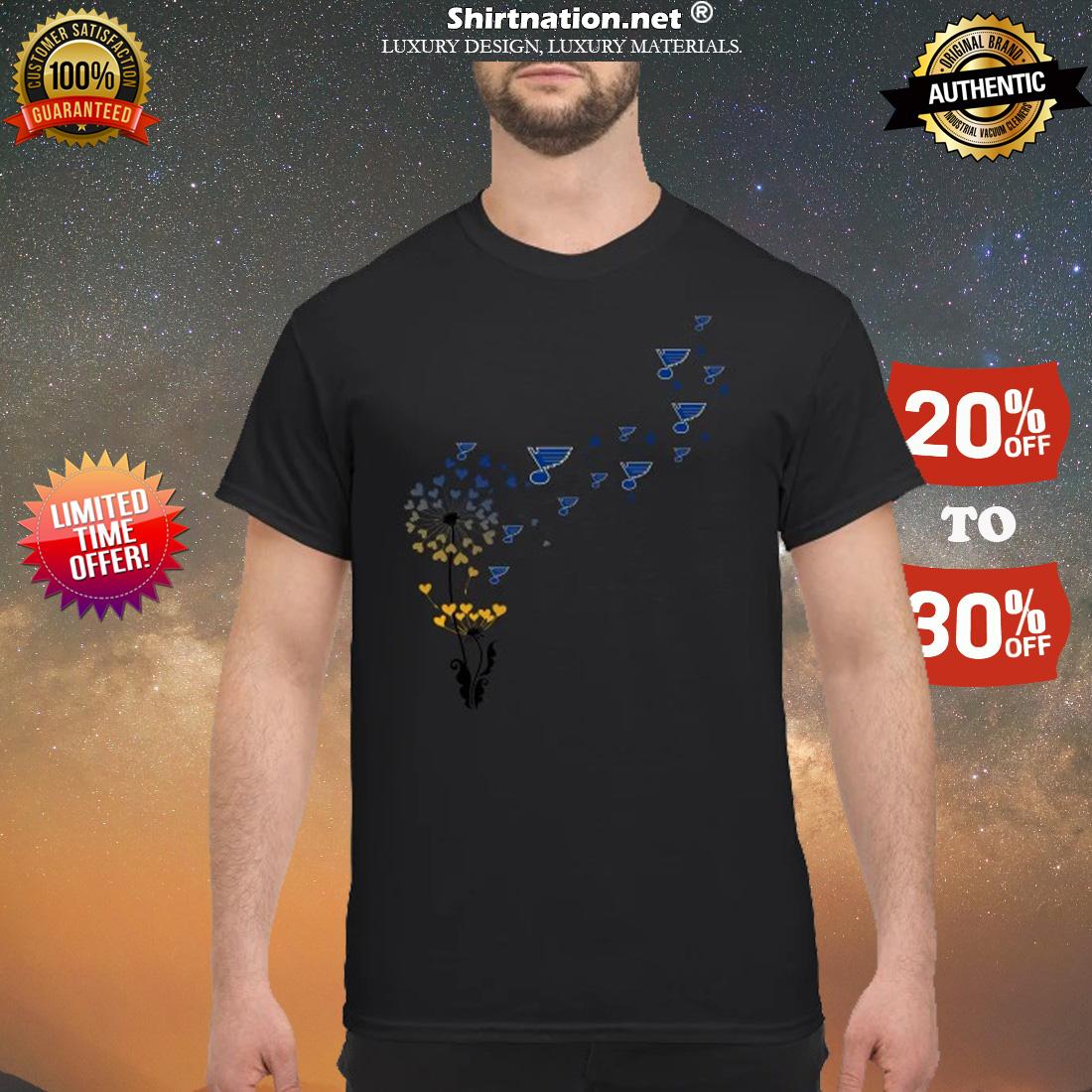 St Louis Blue dandelions shirt