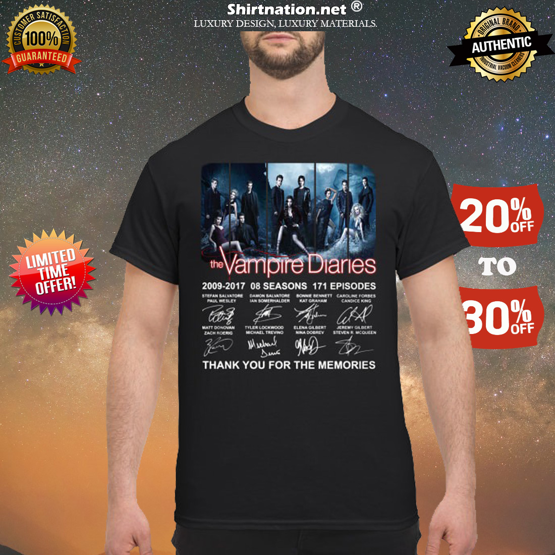 The Vampire Diaries 2009 2017 08 seasons 171 episodes shirt