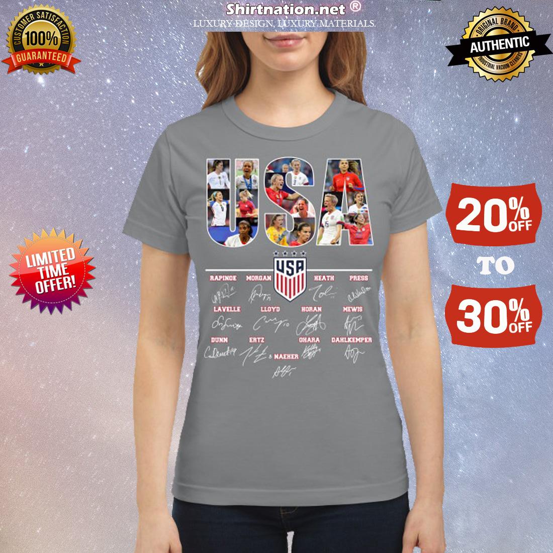 USA soccer team signatures classic shirt