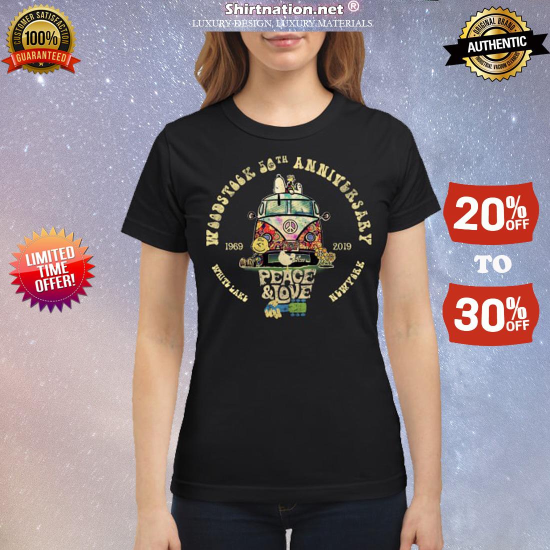 Woodstock 50th anniversary 1969 2019 classic shirt