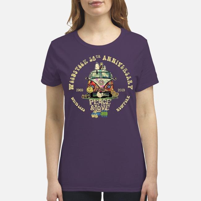 Woodstock 50th anniversary 1969 2019 premium women's shirt